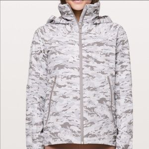 Lululemon Here To Move White Camo Windbreaker